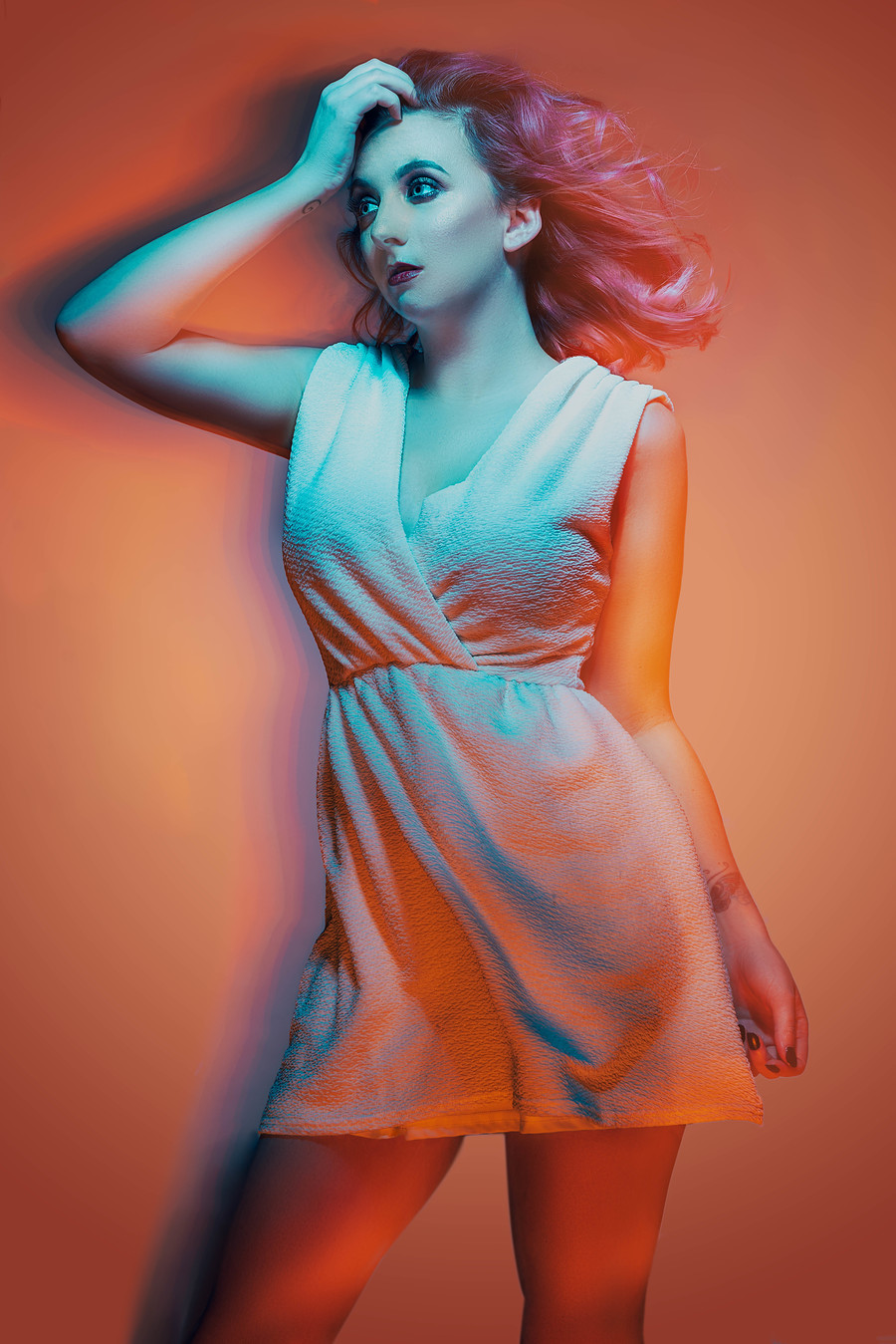 Orange / Photography by David Abbs, Model PJ Elise, Makeup by Make Up With LRN, Taken at Shutter House / Uploaded 20th February 2019 @ 07:36 PM