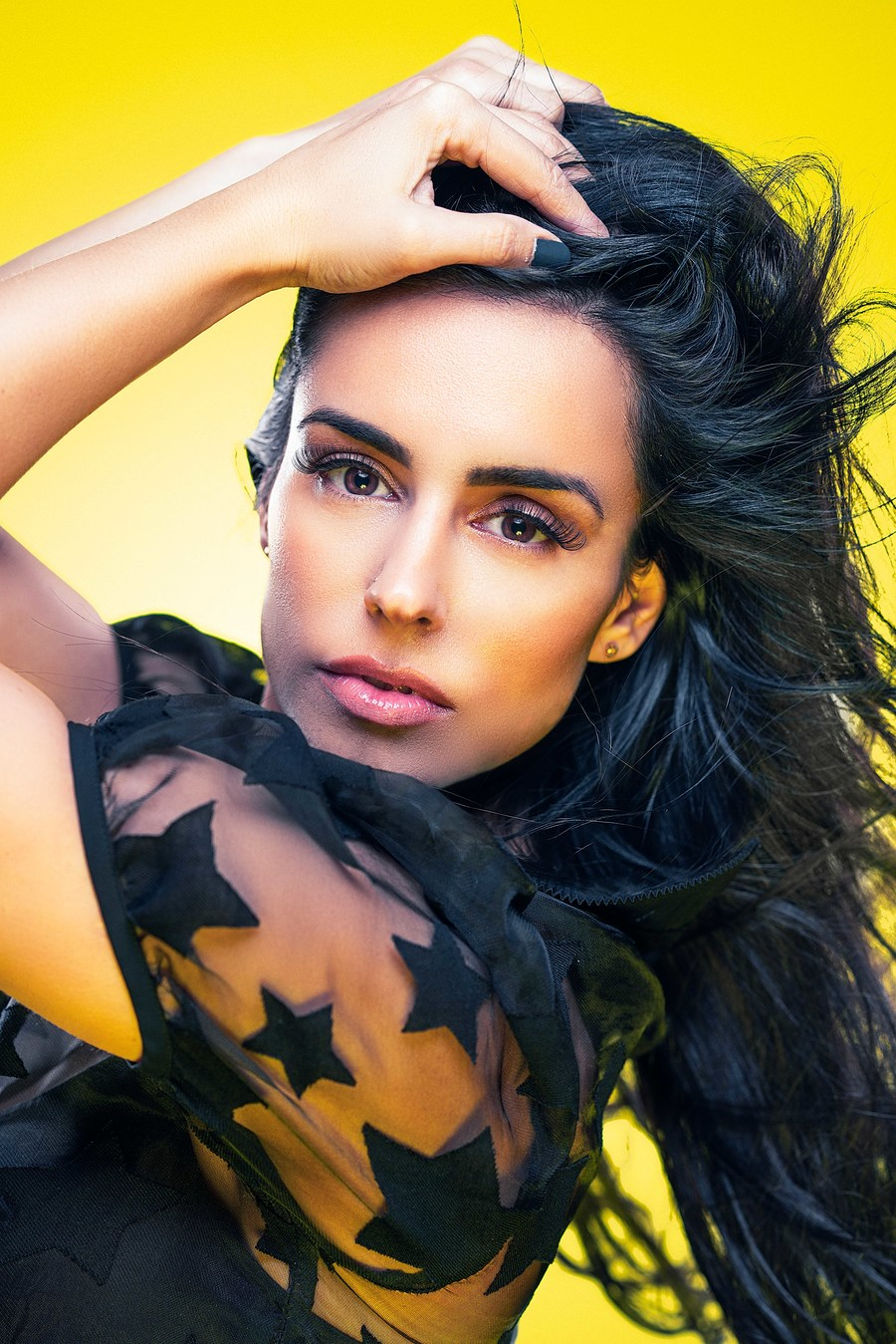 Yellow and black / Photography by David Abbs, Model AndraB, Taken at Shutter House / Uploaded 8th March 2019 @ 07:34 PM