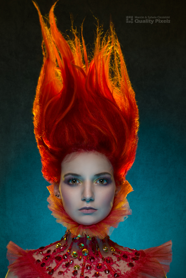 Fire Girl / Photography by Quality Pixels, Model Bad Dolly, Makeup by Jules Robson / Uploaded 6th February 2016 @ 06:29 PM