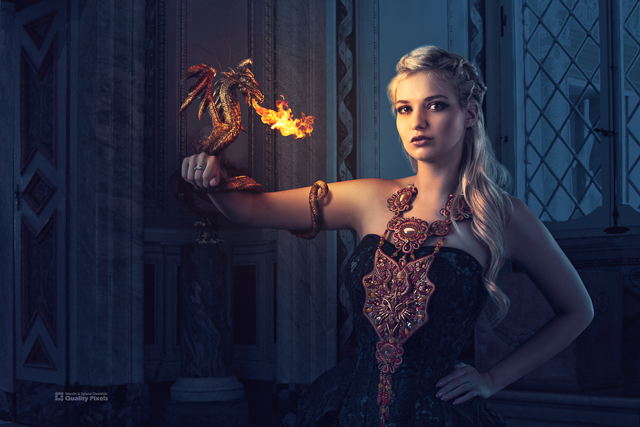 Fire Dragon / Photography by Quality Pixels, Model Bad Dolly, Makeup by Jules Robson, Hair styling by Jules Robson / Uploaded 5th August 2018 @ 08:32 PM