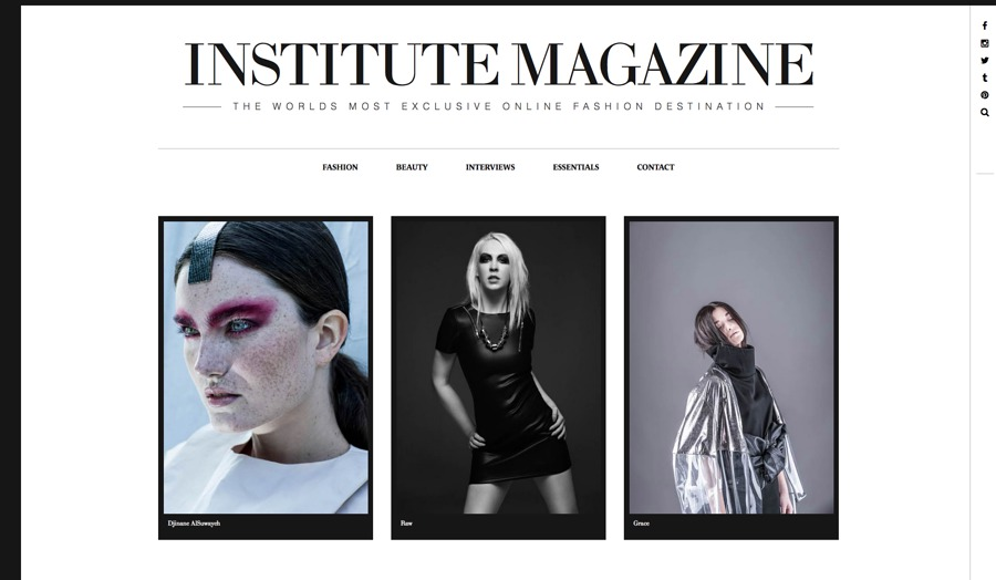 Fashion images with Vic Chowhan published in Institute Magazine / Model Daisy Bright, Makeup by DaisyBrightMakeUp, Stylist DaisyBrightMakeUp, Hair styling by DaisyBrightMakeUp / Uploaded 27th January 2016 @ 01:58 PM