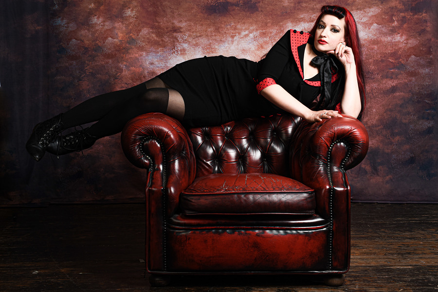 Sit? I prefer to recline. / Photography by PARKES, Model Leonie Snow, Taken at ML Photo Studio / Uploaded 15th September 2020 @ 08:36 PM