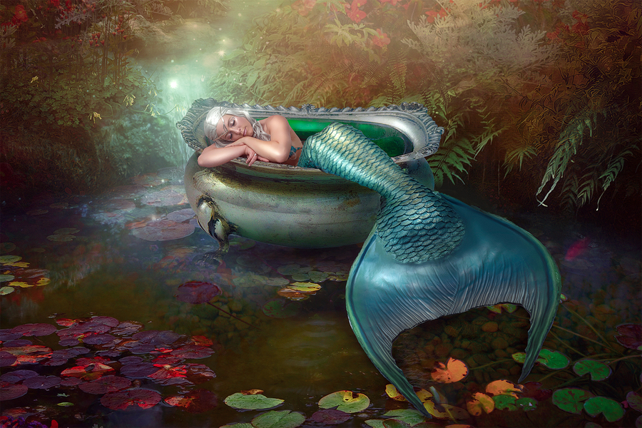 Mermaid's Slumber / Photography by Darkpurity's Art, Model Danica Macnab, Post processing by Darkpurity's Retouch / Uploaded 28th August 2021 @ 08:30 PM