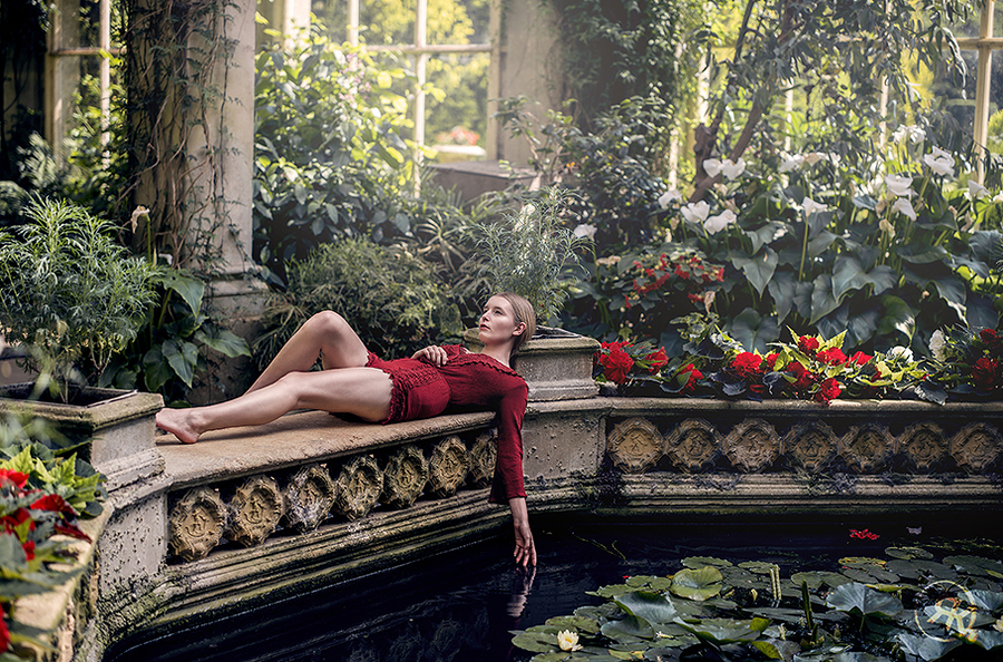 Amoungst the Arum Lilies and Water Lilies / Photography by Raj K, Model Jade Lyon / Uploaded 29th June 2017 @ 07:56 PM