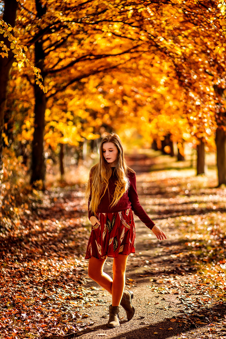 Fallen Leaves on the Ground / Photography by Raj K, Model Jade Lyon / Uploaded 9th October 2020 @ 05:37 PM