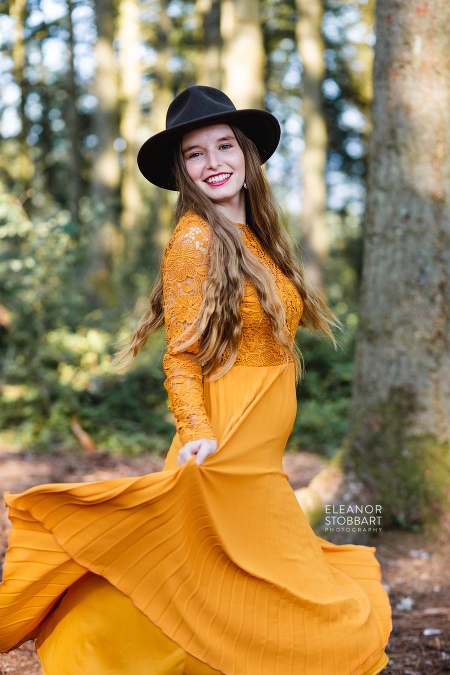 Smiles and Dress Swishing / Photography by Eleanor Stobbart, Model Jade Lyon / Uploaded 27th October 2020 @ 05:40 PM
