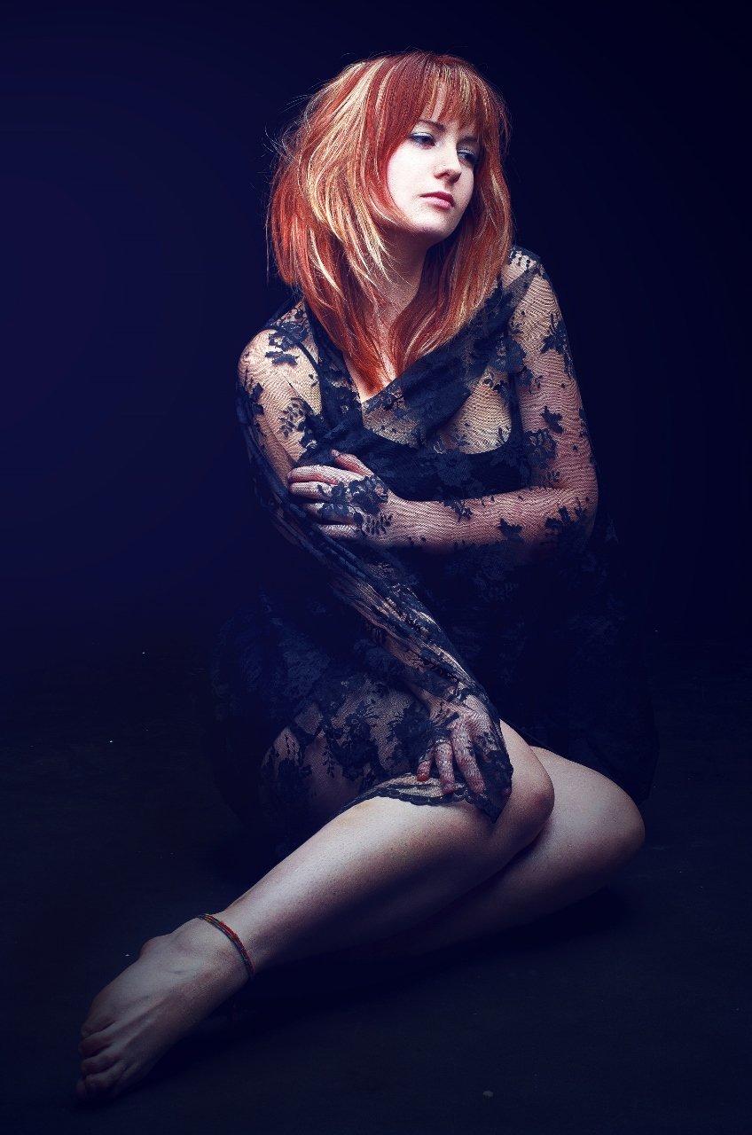 The Lace Shawl / Model Alex Kelsey, Makeup by Alex Kelsey / Uploaded 6th January 2014 @ 02:17 AM