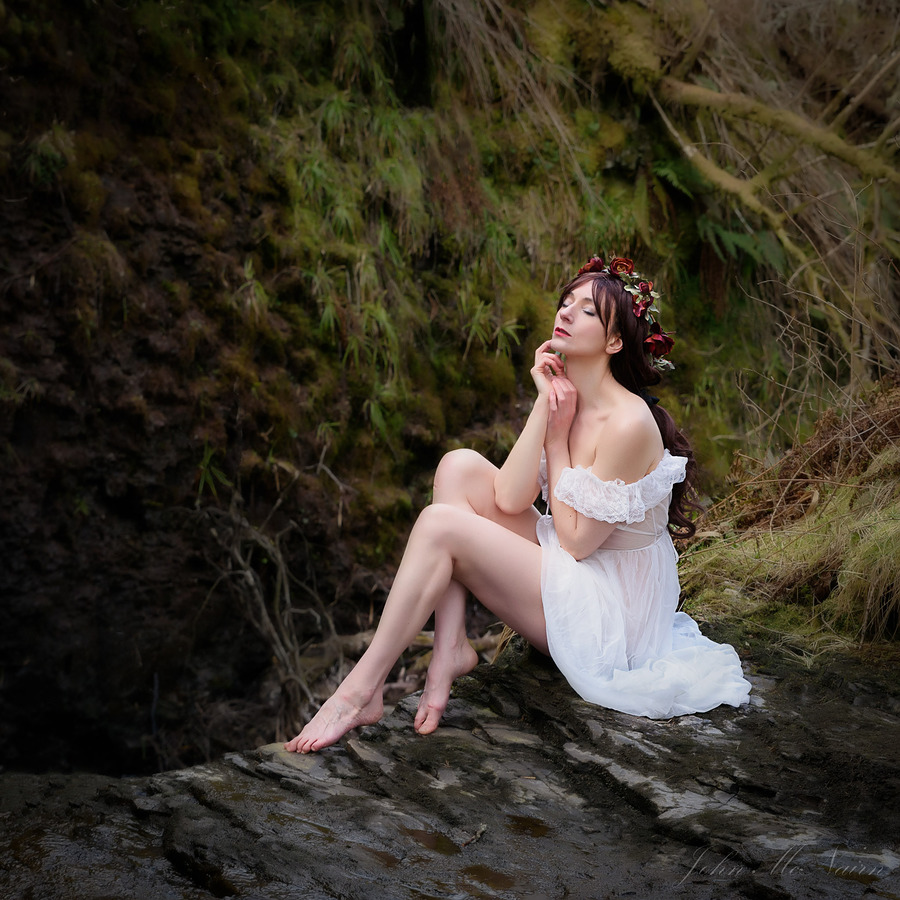 When down her weedy trophies and herself, fell in the weeping  brook / Photography by John McNairn, Model Amber Castle / Uploaded 8th April 2017 @ 05:51 PM