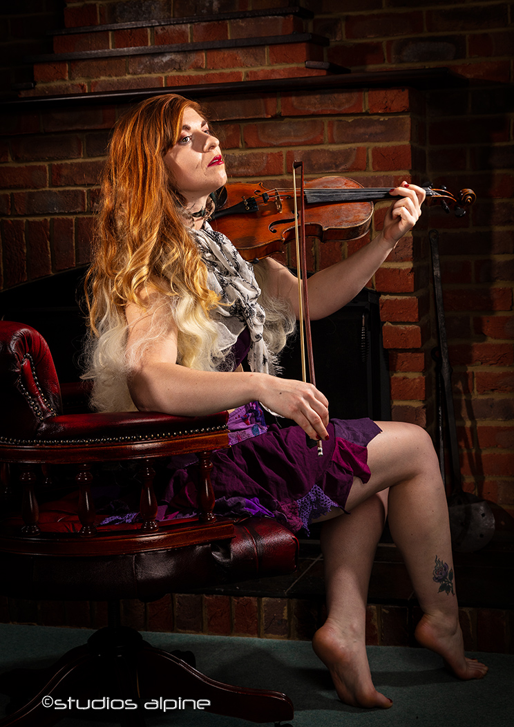 GYPSY VIOLIN / Photography by troy4, Model Helen-Rose, Post processing by troy4, Hair styling by Helen-Rose, Designer troy4 / Uploaded 27th April 2019 @ 04:24 PM
