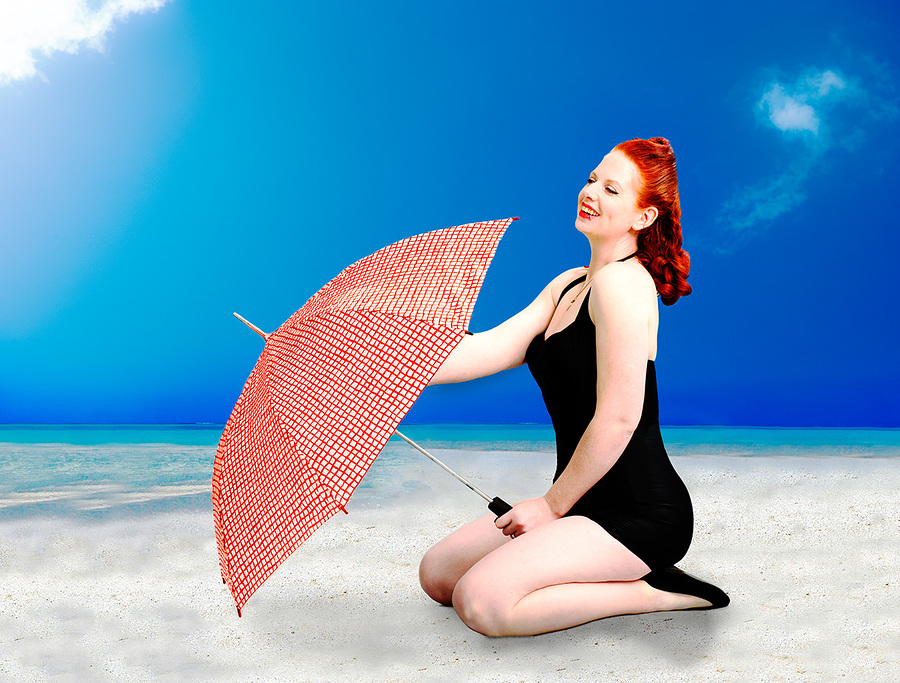 pin up at the beach / Photography by Paul Gooddy, Model Pinklilith / Uploaded 3rd May 2018 @ 03:05 PM