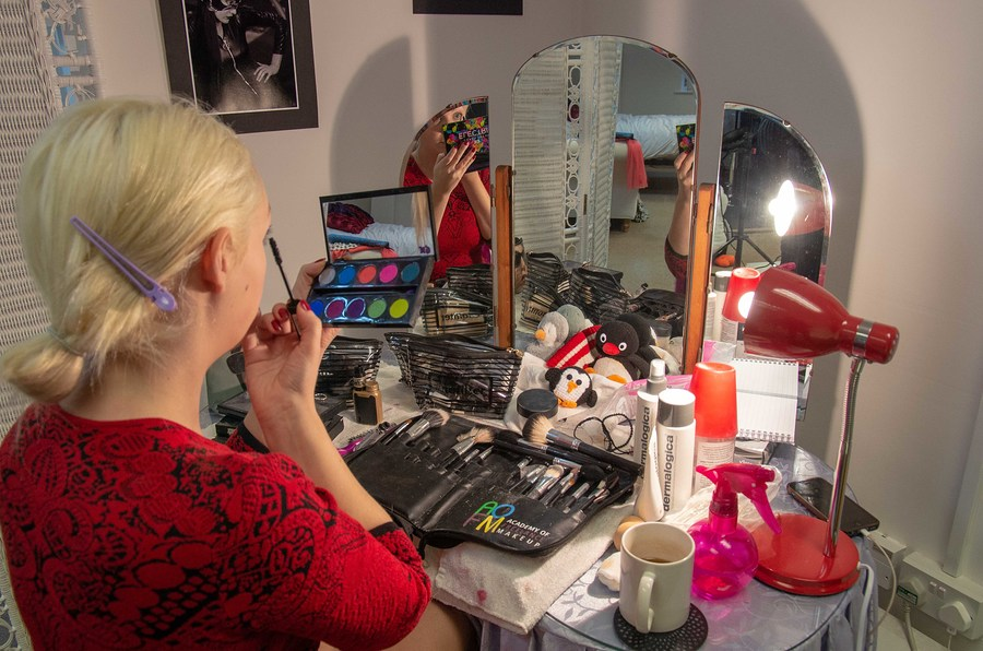 In makeup with Daisy / Photography by Picture Delight, Model Daisy Bright, Taken at Penguin Stu6ios / Uploaded 30th November 2018 @ 12:13 PM