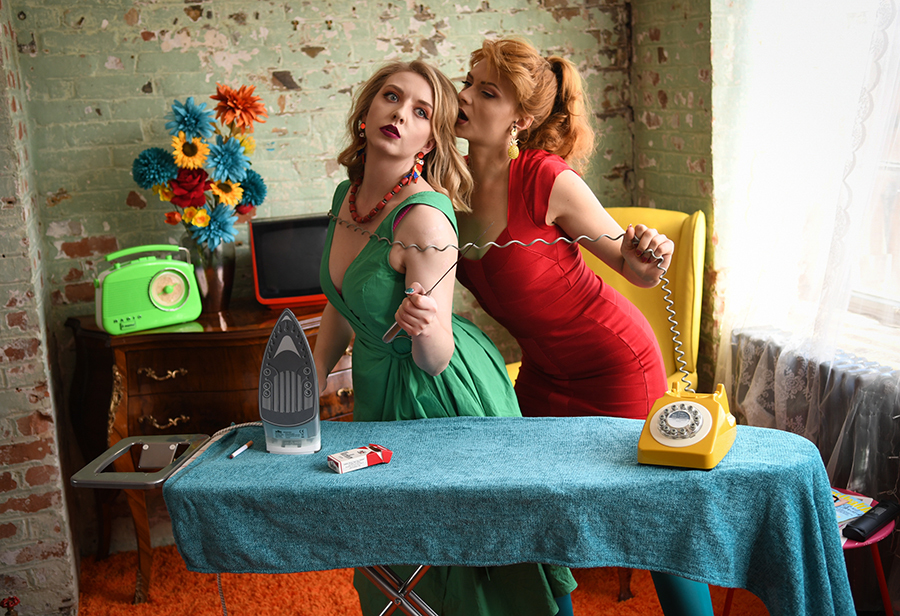 Ironing is... MURDER! / Photography by Rik Richardson, Models Nicole Rayner, Models Scarlett Fox, Post processing by Rik Richardson / Uploaded 29th August 2019 @ 03:57 PM