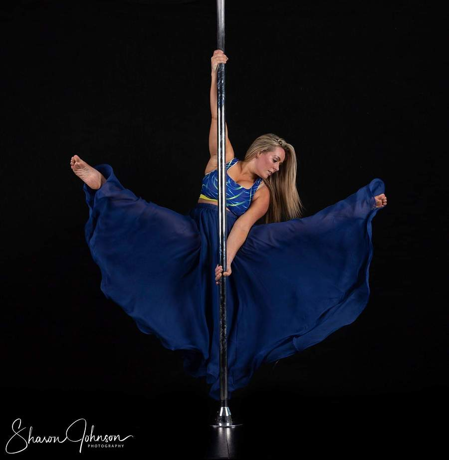 Pole fitness floaty skirt / Photography by Sharon Johnson, Model Clairesavannah / Uploaded 1st July 2019 @ 08:32 PM