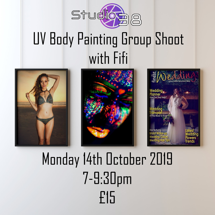 UV Body Painting Group Shoot / Model Fi Fi, Post processing by PD, Taken at Studio38Birkenhead / Uploaded 30th September 2019 @ 11:42 PM