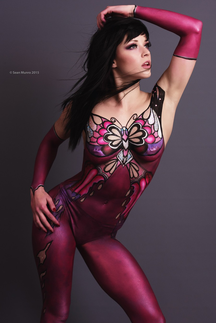 Butterfly -Catsuit Bodypainting / Photography by Sean Munro Photography, Model Evangeline, Makeup by pierangela manzetti, Taken at Sean Munro Photography, Artwork by pierangela manzetti / Uploaded 15th January 2016 @ 12:02 PM