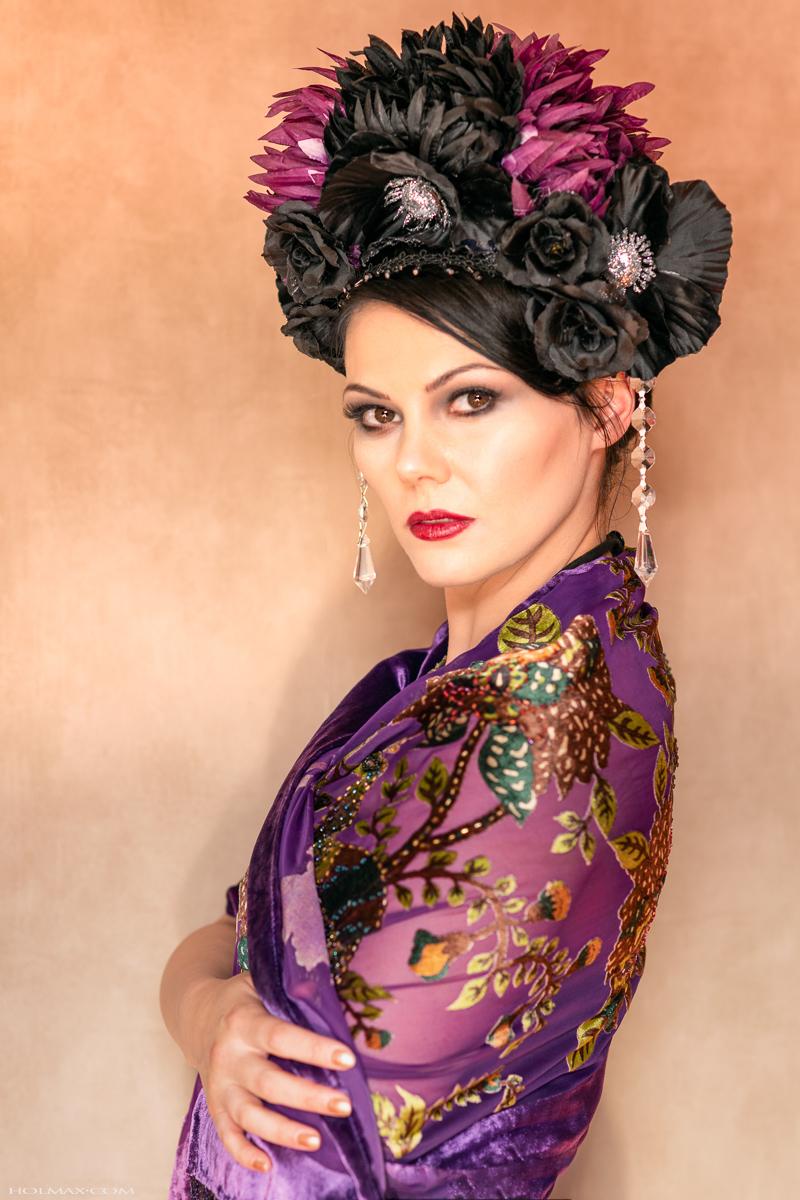 """Dahlia"" headdress / Photography by Holmax, Model Rachelle_Emily, Designer Blissfully Bound / Uploaded 26th May 2019 @ 08:53 PM"