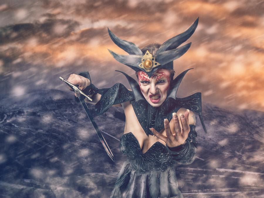 Storm Bringer / Photography by Matthew Jones, Model Miss Versatile, Makeup by Sara Szpak MUA, Stylist Miss Versatile, Hair styling by Sara Szpak MUA, Designer Miss Versatile / Uploaded 13th April 2015 @ 05:32 AM