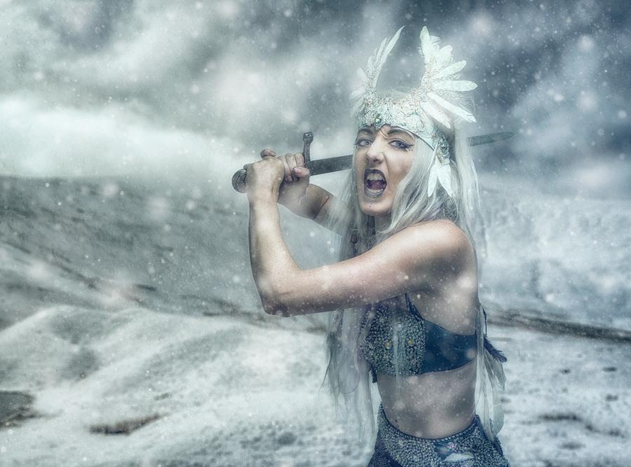 Winter's Warrior / Photography by Matthew Jones, Model Gem Pyro, Makeup by Gem Pyro / Uploaded 3rd March 2015 @ 05:58 PM