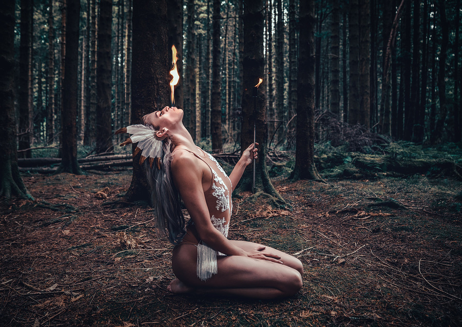 Human candle / Photography by Matthew Jones / Uploaded 5th September 2018 @ 09:54 PM