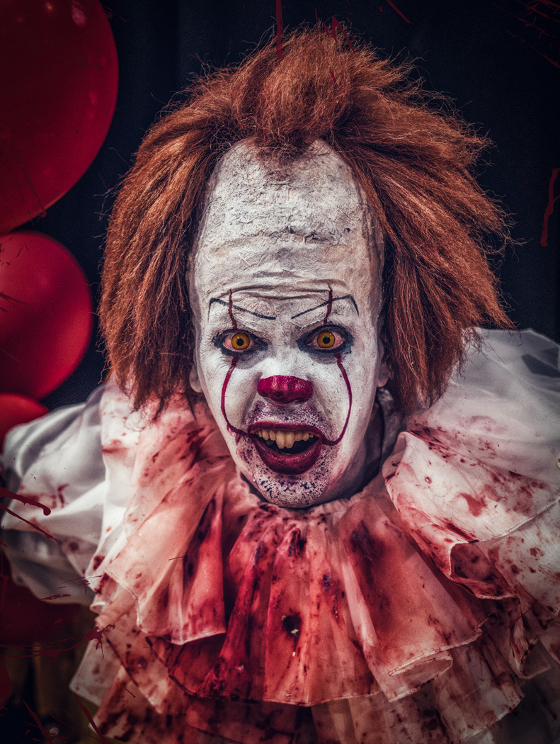 Pennywise the clown / Photography by Matthew Jones / Uploaded 4th July 2019 @ 08:02 PM
