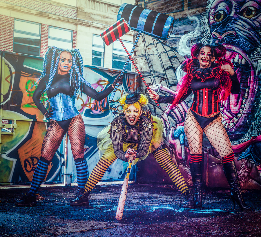 The Harley Quinns / Photography by Matthew Jones, Models Delta Topaz, Models Naomileah91 / Uploaded 20th October 2019 @ 07:10 PM