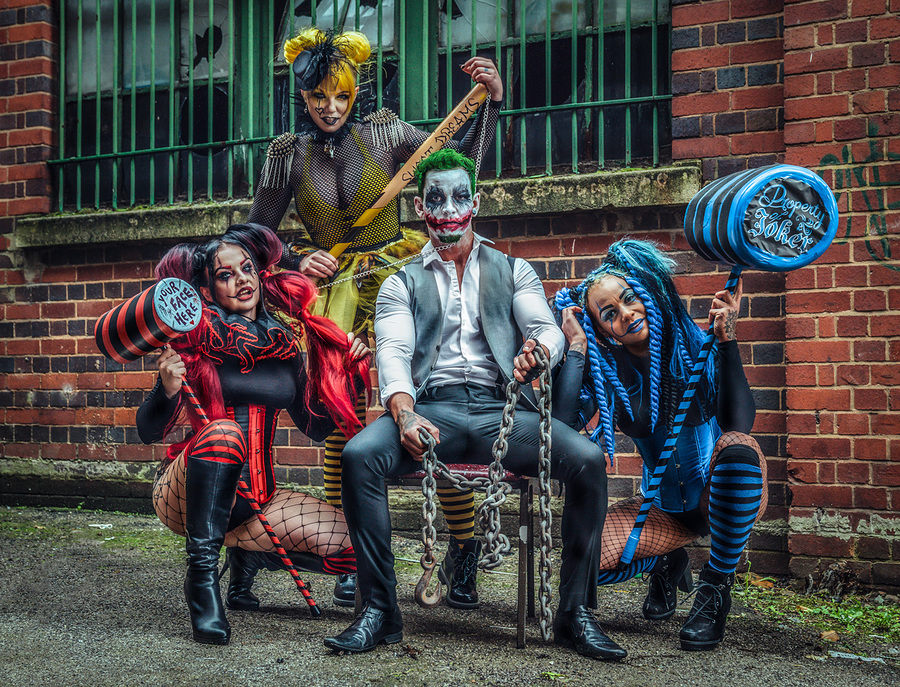 Joker and the trio of Madness / Photography by Matthew Jones, Models Delta Topaz, Models Naomileah91 / Uploaded 22nd October 2019 @ 08:31 PM
