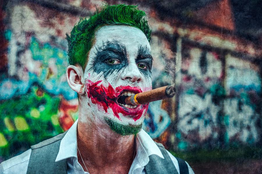 Smoking Joker / Photography by Matthew Jones / Uploaded 4th November 2019 @ 10:11 PM