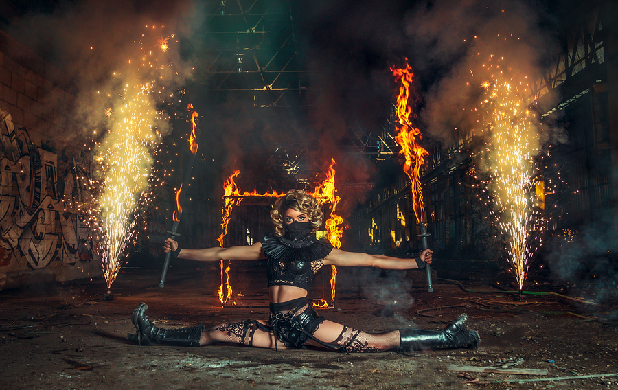 Flame on / Photography by Matthew Jones, Model Gem Pyro, Makeup by Gem Pyro / Uploaded 15th December 2019 @ 05:02 PM