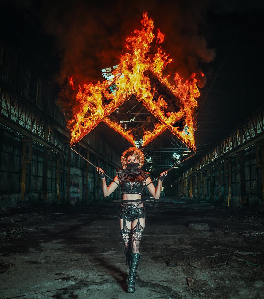 Fire Cube / Photography by Matthew Jones, Model Gem Pyro, Makeup by Gem Pyro / Uploaded 22nd December 2019 @ 04:44 PM