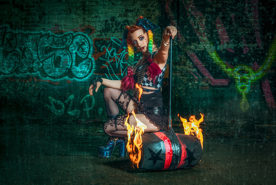 Hammer Time - Harley style / Photography by Matthew Jones, Model Gem Pyro, Makeup by Gem Pyro / Uploaded 3rd April 2020 @ 08:43 PM