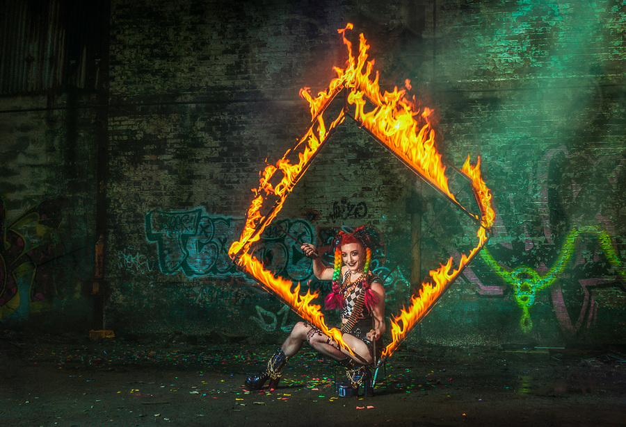 Fire Cube 2 / Photography by Matthew Jones, Model Gem Pyro, Makeup by Gem Pyro / Uploaded 6th April 2020 @ 04:44 PM