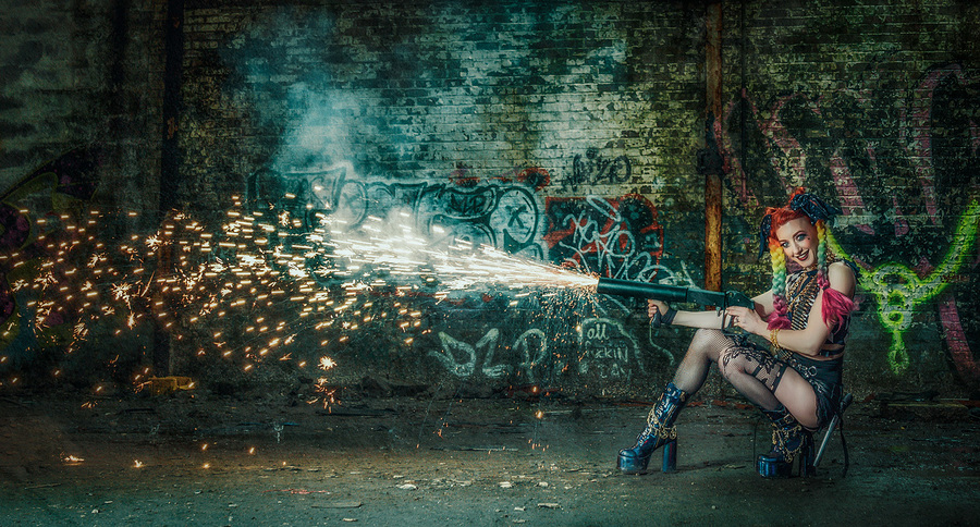 Shooting Sparks / Photography by Matthew Jones, Model Gem Pyro, Makeup by Gem Pyro / Uploaded 26th January 2021 @ 09:32 PM