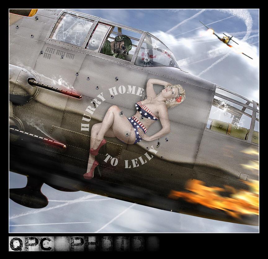 pin up bomber plane style / Model Lelly D / Uploaded 1st November 2014 @ 08:09 AM