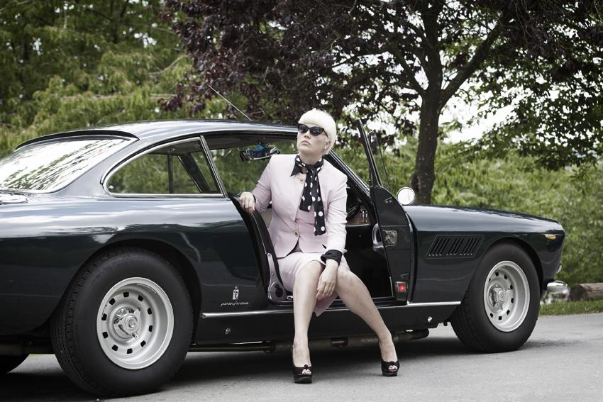 old ferrari shoot / Photography by Nik Sheppard, Model Lelly D / Uploaded 20th August 2014 @ 10:08 AM