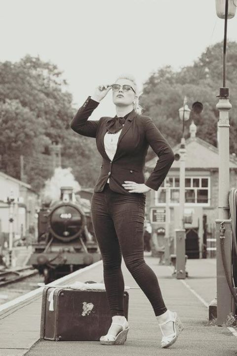 vintage railway shoot / Photography by Nik Sheppard, Model Lelly D / Uploaded 19th October 2015 @ 09:46 PM