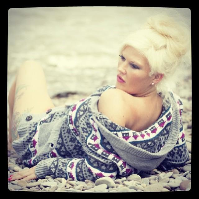 50s beach shoot / Photography by Nik Sheppard, Model Lelly D / Uploaded 23rd June 2014 @ 07:16 AM