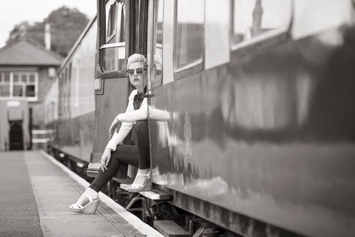 vintage railway shoot / Photography by Nik Sheppard, Model Lelly D / Uploaded 19th October 2015 @ 09:40 PM
