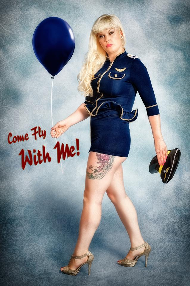 come fly with me pin up style  / Photography by sherring, Model Lelly D / Uploaded 22nd August 2014 @ 05:22 PM