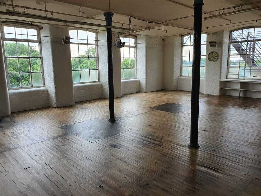 Varnished wooden floors with huge windows and lots of Daylight / Taken at HallamMill (Truedefinition) / Uploaded 29th June 2020 @ 09:16 PM