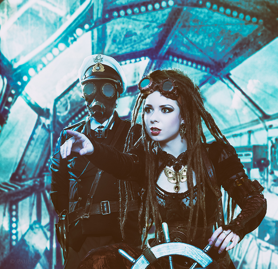 Zeppelin Pirates / Photography by Paul Gooddy, Models PaulG-model, Models Savra / Uploaded 9th October 2015 @ 06:50 AM