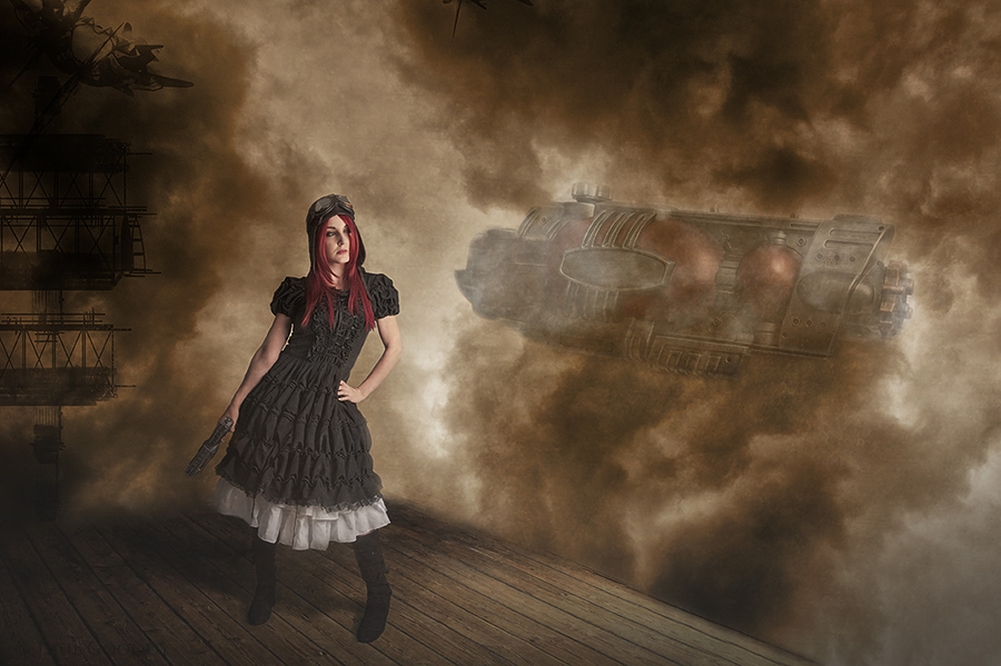 Air Pirates / Photography by Paul Gooddy, Model BeccaChii, Post processing by Paul Gooddy / Uploaded 22nd October 2013 @ 03:19 PM