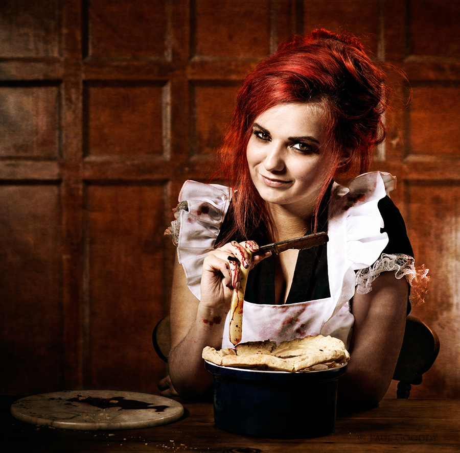 Mrs Lovetts Pie Shop / Photography by Paul Gooddy, Model Bad Dolly / Uploaded 19th September 2015 @ 07:54 PM