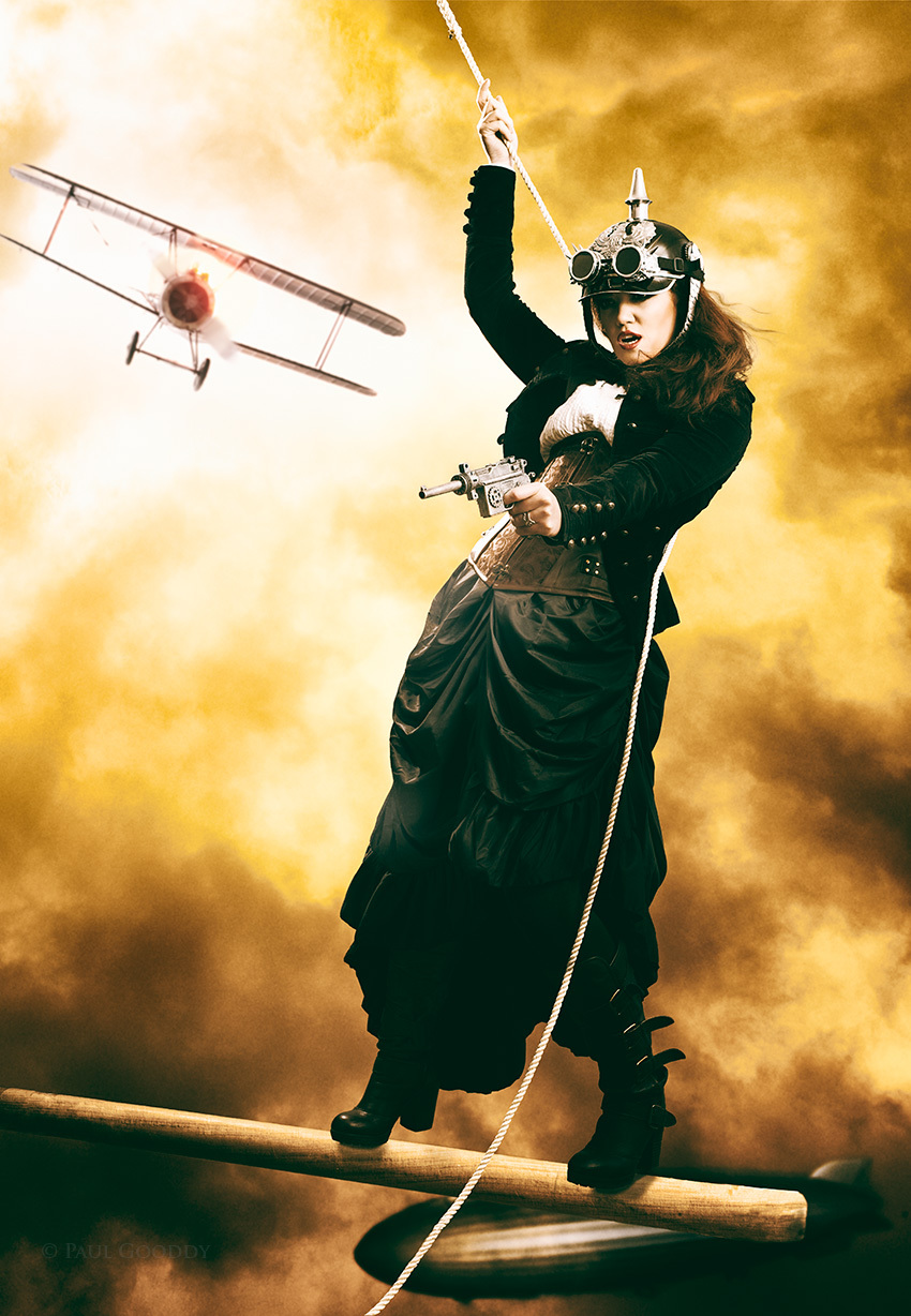 Air Pirates / Photography by Paul Gooddy, Model ZoePage, Post processing by Paul Gooddy, Stylist Paul Gooddy / Uploaded 1st June 2017 @ 06:56 AM