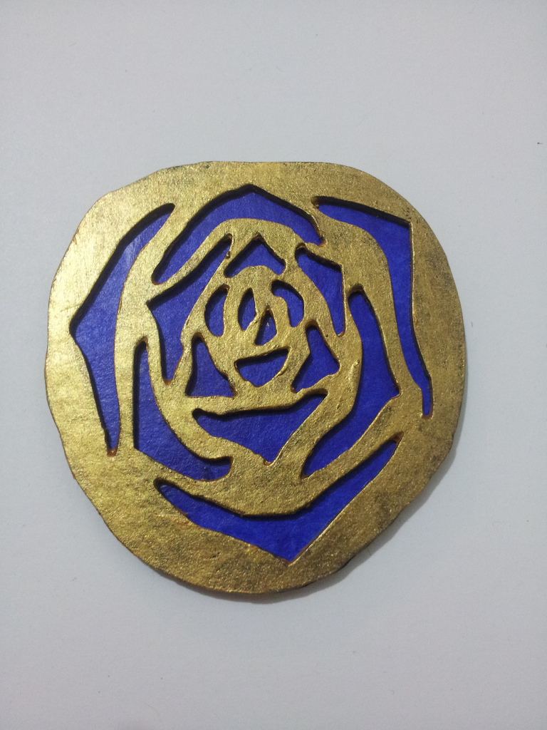 Ultramarine and gold rose / Photography by Somhairle Kelly, Designer Somhairle Kelly / Uploaded 27th January 2015 @ 11:57 PM