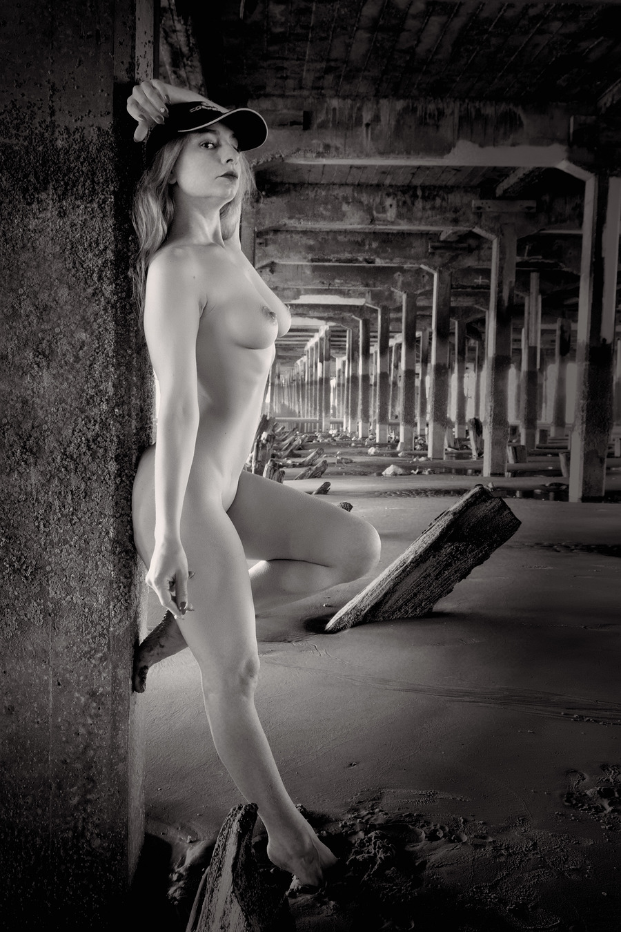 Pier - Black and white version / Photography by shutterman, Model Cleo P / Uploaded 24th June 2020 @ 10:50 AM
