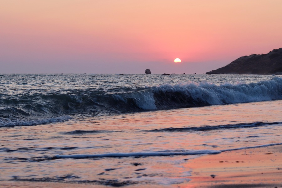 Sunset at Aphrodite's rock / Photography by Zeus photoshoot / Uploaded 29th August 2021 @ 04:39 AM