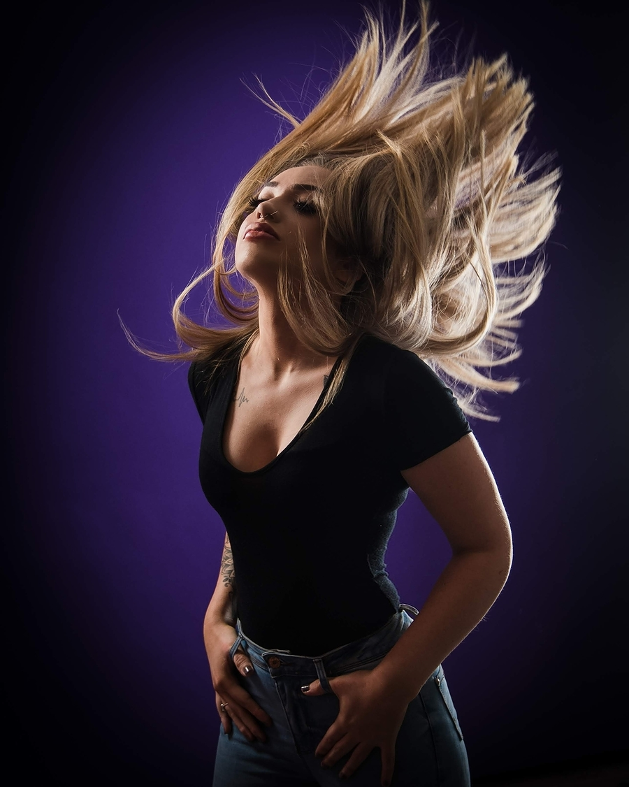 Hair Flick / Photography by Simon_H, Model Caggie Tyler / Uploaded 16th March 2020 @ 08:14 AM