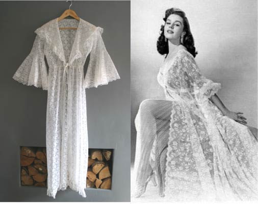 1960s Pin Up Style Lace Negligee Robe / Model Helen Diaz / Uploaded 12th August 2015 @ 01:17 AM