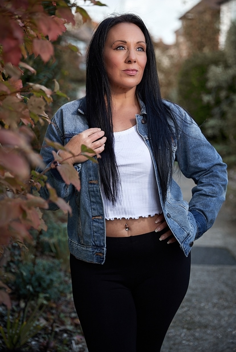 Denim jacket / Photography by Piktorre, Model miniminxxox / Uploaded 3rd April 2021 @ 11:34 PM