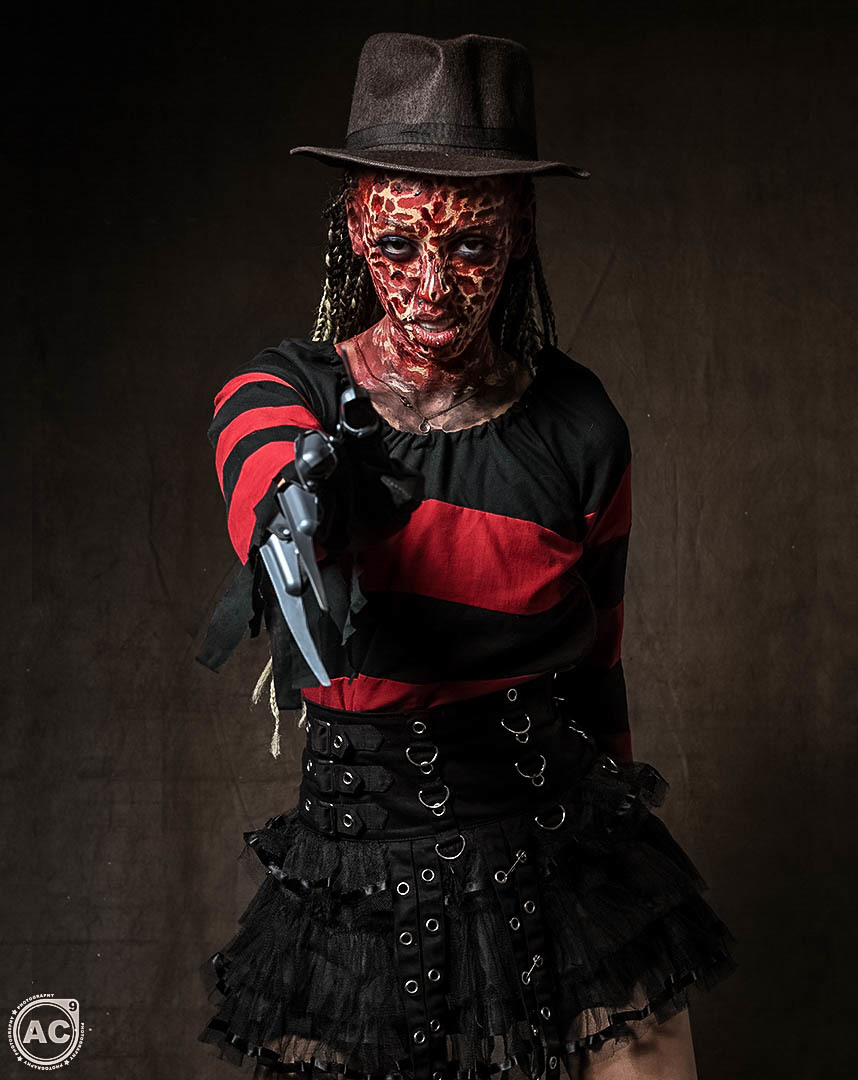 1....2....Freddy's Coming For You! / Photography by AC9, Model Fi Fi, Makeup by Fi Fi / Uploaded 22nd October 2019 @ 08:29 AM